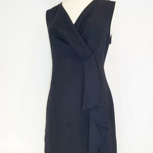 NEVER WORN Navy DKNY V-Neck Sleeveless Drape Dress